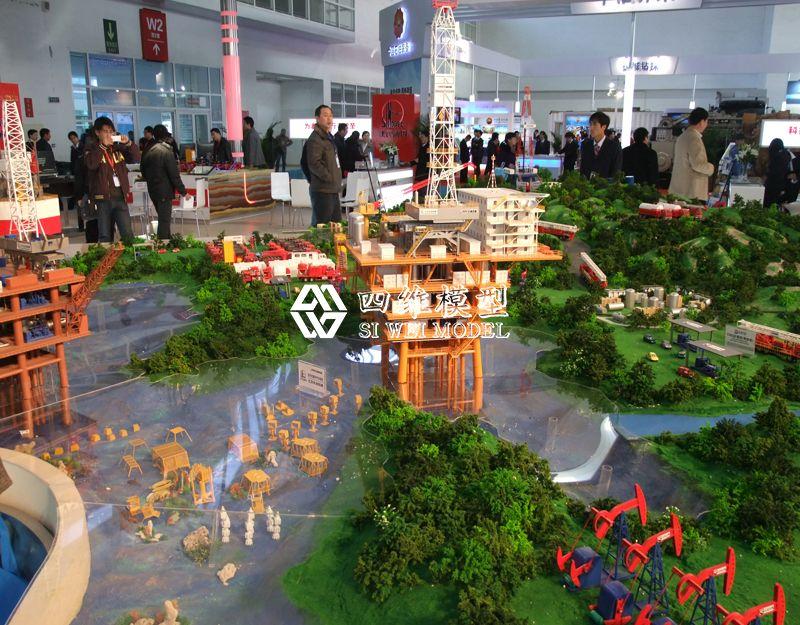 北京四维云尚模型--石油四机展厅模型